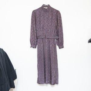 1970s Vintage Talbots Dress with Belt size 2